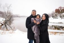 Winter family photography